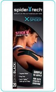 Купить преднарезанный кинзио тейп Spider Tech X 20 штук - черный