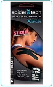 Купить преднарезанный кинзио тейп Spider Tech X 6 штук - черный