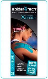 Купить преднарезанный кинзио тейп Spider Tech X 20 штук - синий