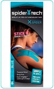 Купить преднарезанный кинзио тейп Spider Tech X 6 штук - синий