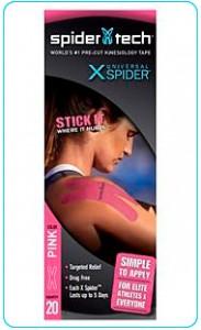Купить преднарезанный кинзио тейп Spider Tech X 20 штук - розовый