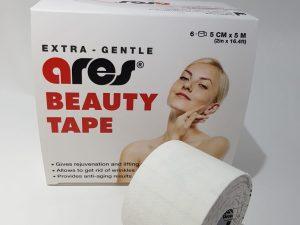 Ares Beuty Tape кинезио тейп для лица и самой нежной кожи