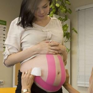 Кинезио тейп- нежно помогает при беременности